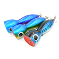 3 pcs lot Boat Fishing Lure Popper Saltwater Big Game Topwater GT Lure Handcraf Wood Bait