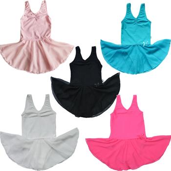 Розничная 1 шт. 4 цвет новый девочек дети бесплатная доставка гимнастика розовый купальник балетная пачка скейт танец ну вечеринку юбка фея платье 2-14Y