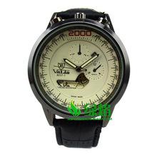 2015 relojes de hombre de regalo de lujo clásica correa de cuero calendario hombres reloj Casual de negocios