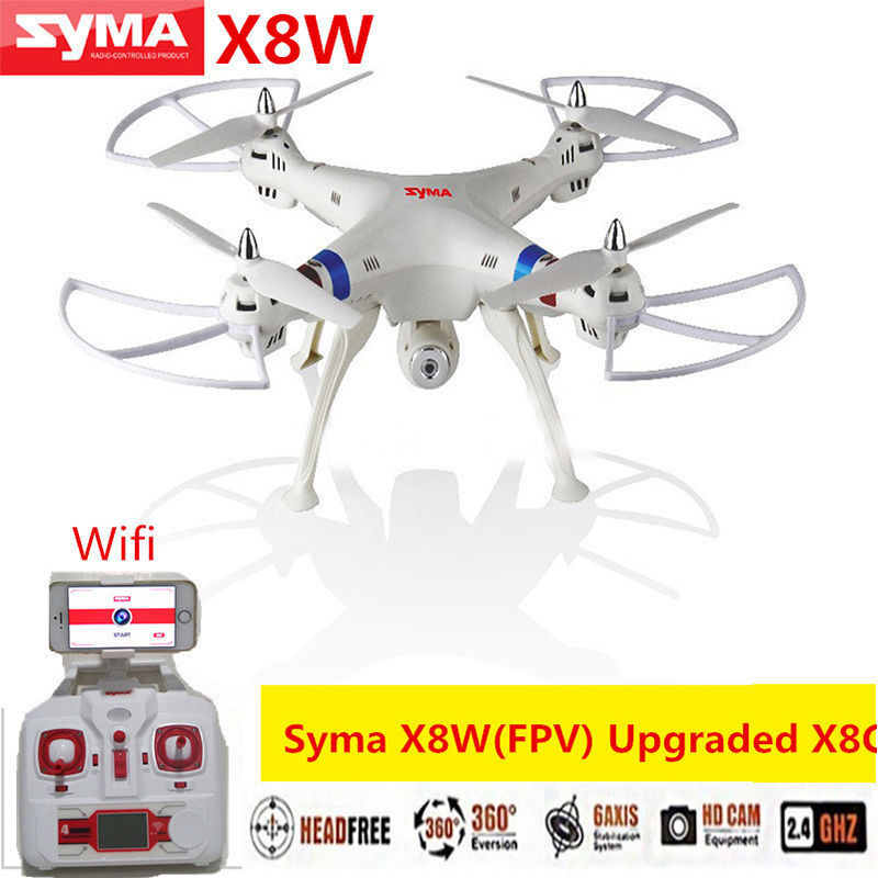 Syma X8W BIG PROFESSIONAL DRONES 2.4G 4CH 6-Axis Venture 2MP Wide Angle Camera RC Drone RC Quadcopter RTF RC Helicopter(China (Mainland))