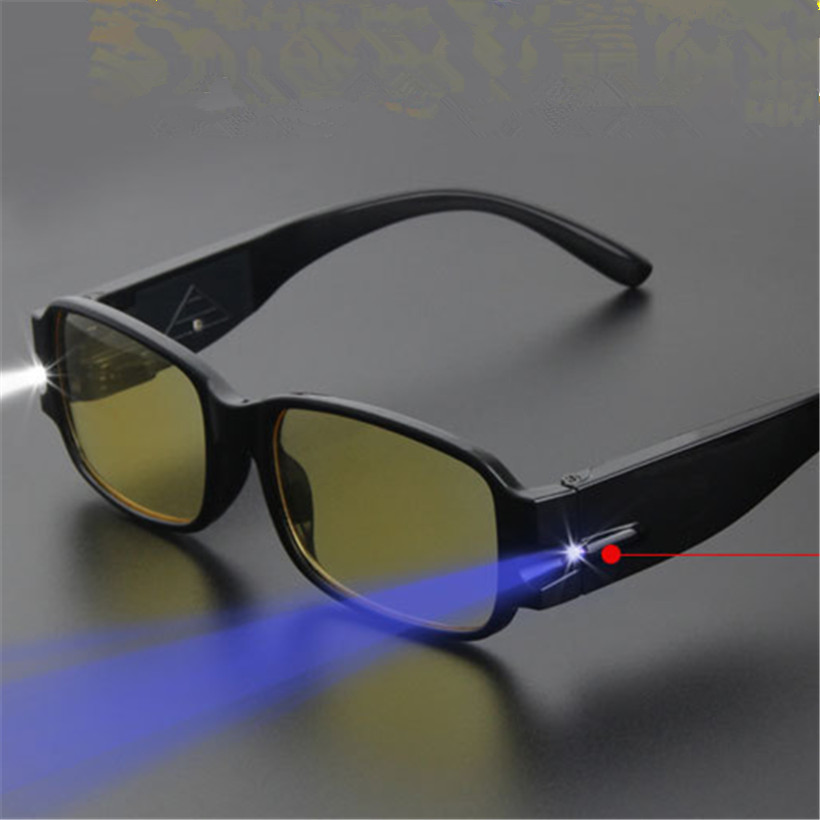 LED Reading Glasses Women Men Eyeglass Spectacle Diopter Magnifier Light UP Male Female Glasses 1.0 1.5 2.0 2.5 3.0 3.5 4.0(China (Mainland))