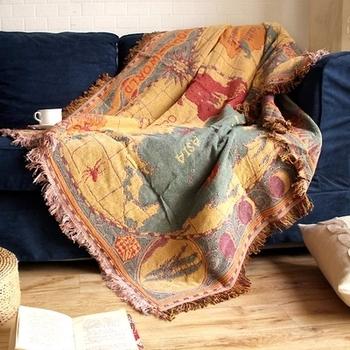 Весенний ветер богемия рождество многофункциональный WovenThickened хлопок диване полотенце одеяло, Гобелен, Ковер, Кровать Coverr