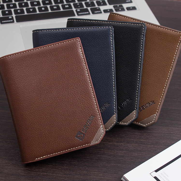 Brand New vintage Men wallets genuine leather purse men short casual male card holder carteira brand wallet Free Shipping(China (Mainland))