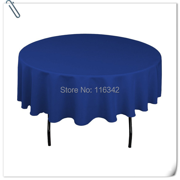 """Big Discount & Factory Price!!! 132"""" Dia Visa Round 100% Polyester Blue Table Cloth With FREE SHIPPING(China (Mainland))"""