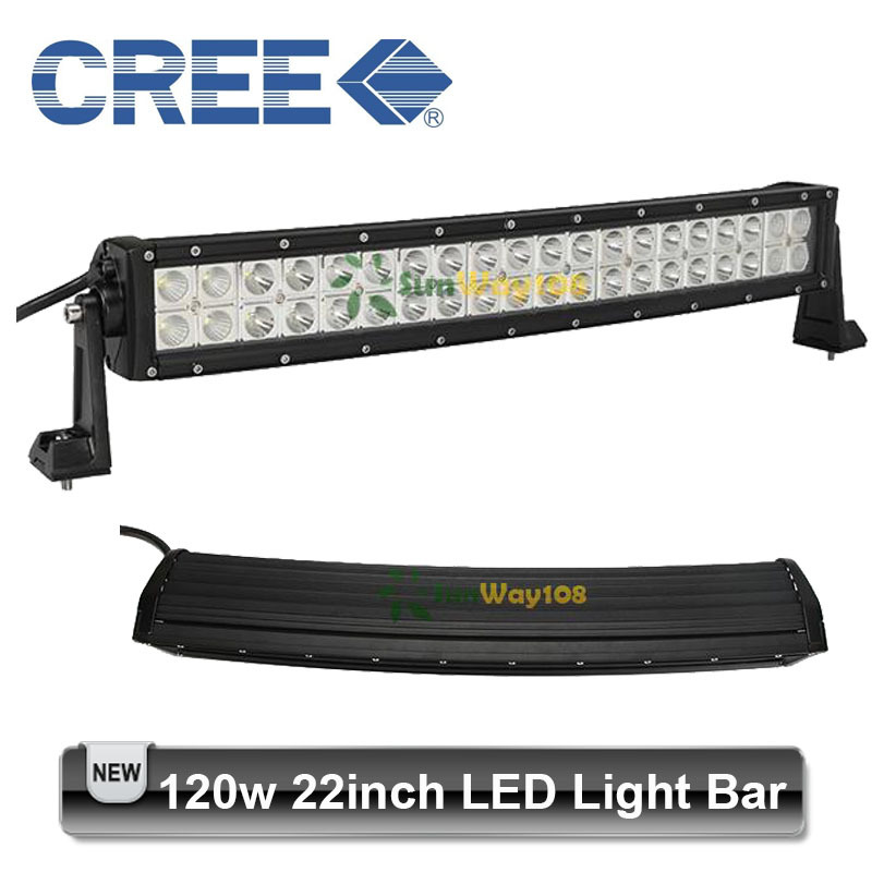 22inch 120W Curved LED CREE Driving Work Light Bar Front Bumper Off-road Driving Vehicles ATV SUV 40* 3W Flood Spot Combo Beam(China (Mainland))
