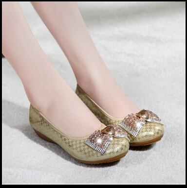 ซื้อ ขนาด34-40 2สีรองเท้าส้นสั้น4เซนติเมตรลิ่มรองเท้ารอบนิ้วเท้าเลดี้OLแฟชั่นรองเท้าBowtieจระเข้รองเท้าหนังแท้R021