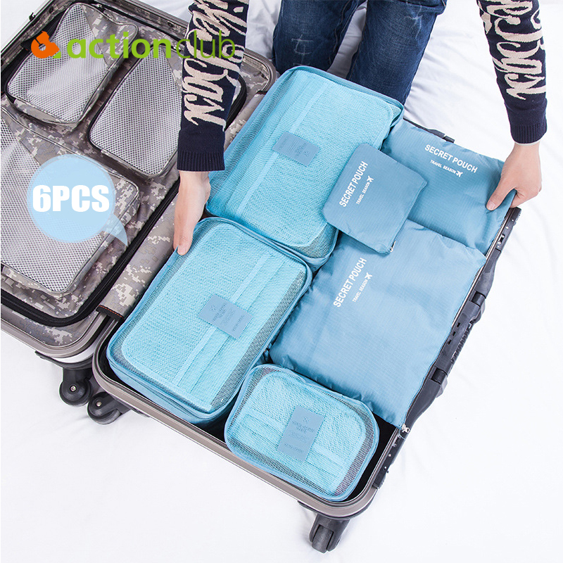 New 2016 Travelling Storage Bags 6pcs/set Home Clothes Organizer Toiletries Brand Product Storage Bags Set(China (Mainland))