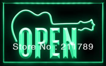 OB022 B OPEN Live Guitar Bass Music Bar Neon Light Sign.