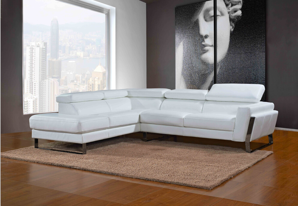 Modern white leather sectional sofa and genuine leather sofa #798ang(China (Mainland))