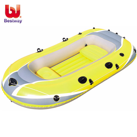 bestway 3 preson fishing boat inflatable kayak 305*132*38CM,inlude oar, foot pump repair patch(China (Mainland))