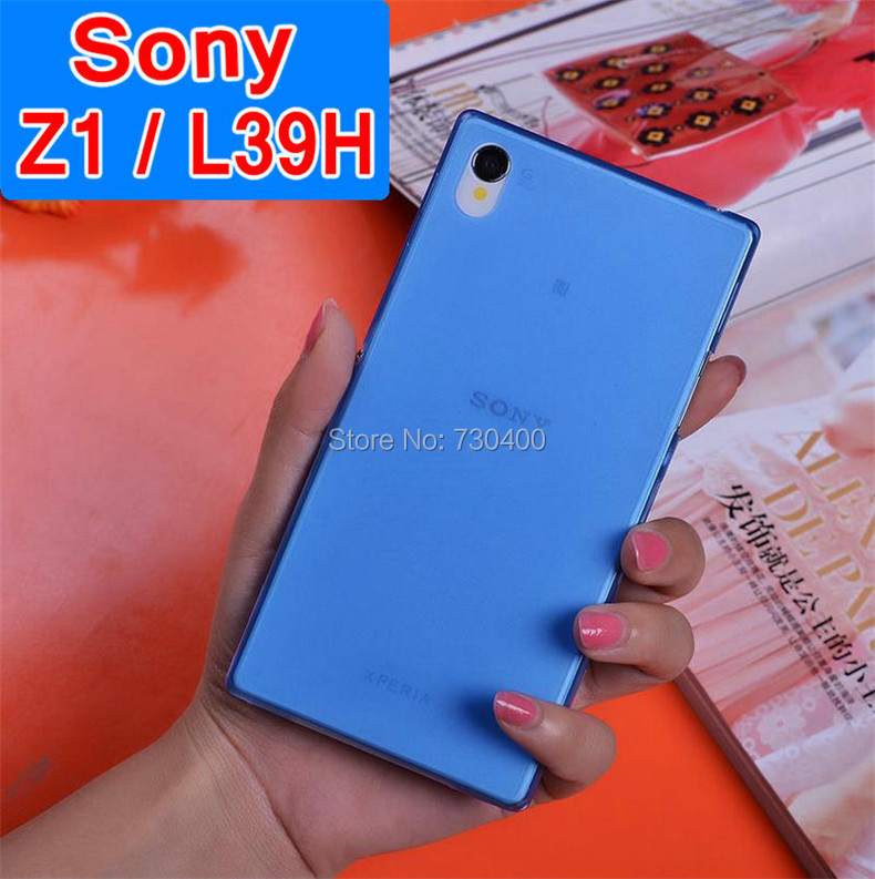 Ultra fine soft translucent thin Phone shell PP Case Skin Protector For Sony Xperia Z1 L39H transparent frosted phone case(China (Mainland))