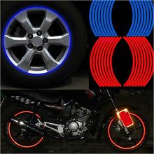"""New! 16 Pcs bandes de roue autocollants et décalcomanies 14 """" 17 """" 18 """" jante réfléchissante bande Bike auto moto bande 5 couleurs Car Styling(China (Mainland))"""