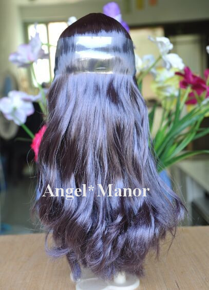 Free shipping, hair for Blyth doll with scalp, Dark purle long hair, For DIY change dll , TP31(China (Mainland))