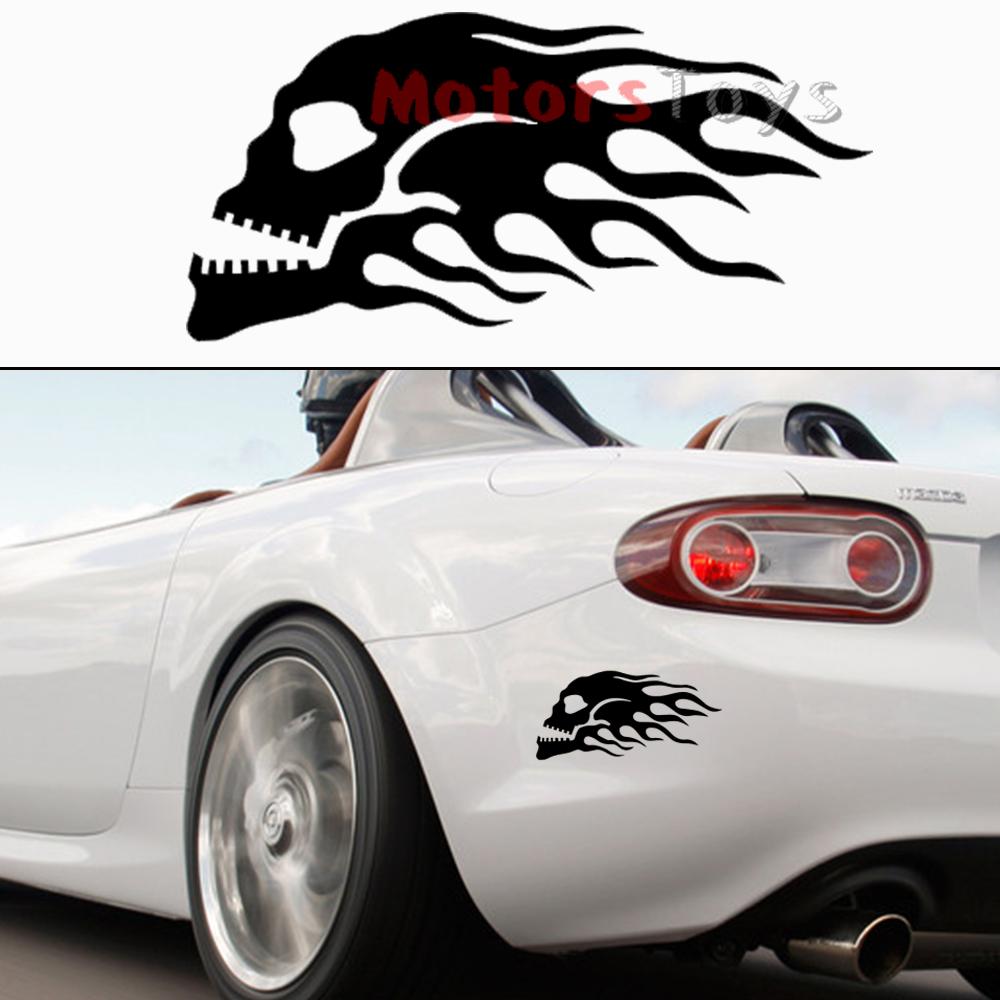 Car sticker design fire - Car Sticker Racing Fire