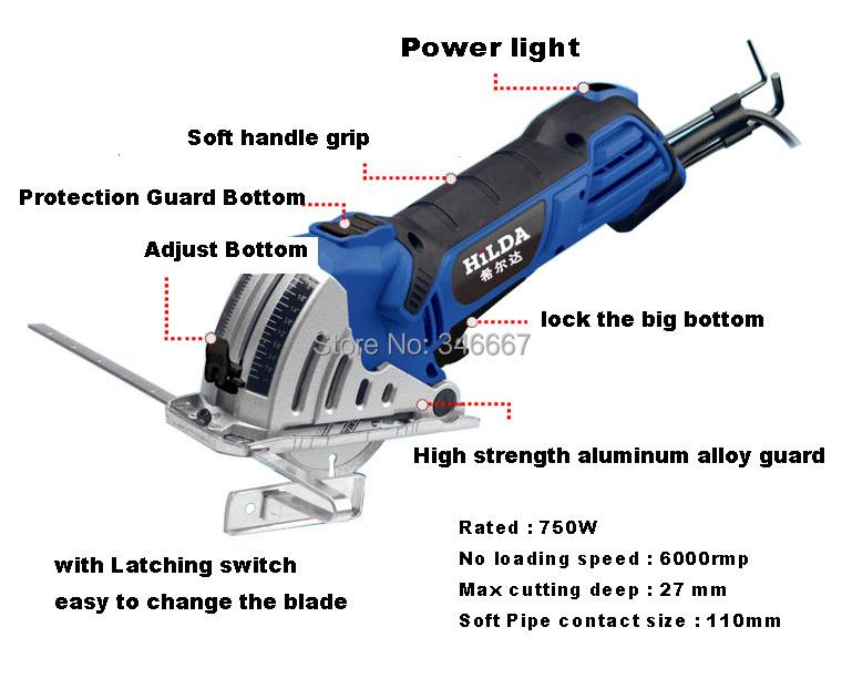 750W mini saw Multipurpose Power Tools mini circular saw DTY houseworking tools mini power saws