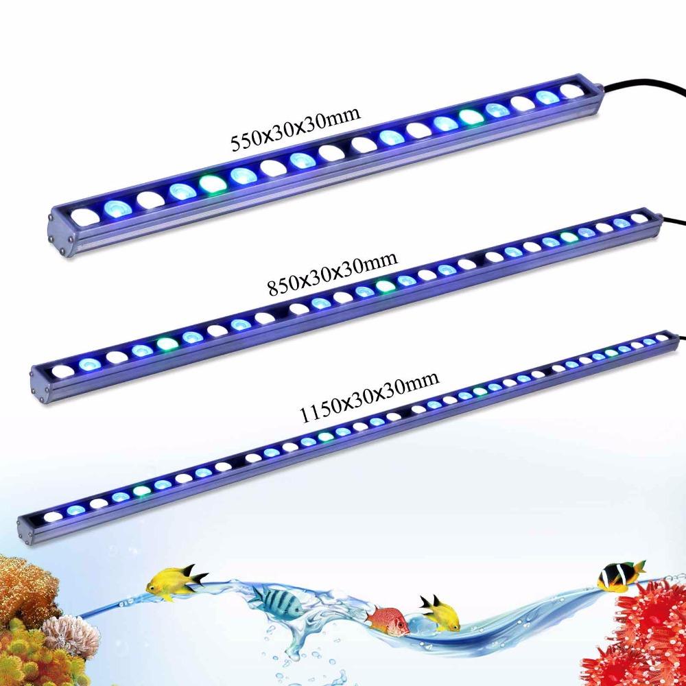 Hot 54w/81w/108w Waterproof LED aquarium light strip white blue UV for reef coral fish tank lighting IP65 aquarium bar lamp(China (Mainland))