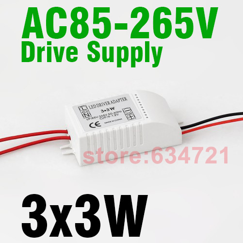 3 x3 W High Power Constant Current Source 85-265V 620MA  LED Driver Power Supply for External Ceiling Light Free Shipping