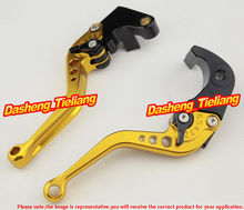 Motorcycle Short Brake Clutch Levers For Kawasaki Ninja 2000-2004 ZX6R 2004-2005 ZX10R & 2003 2004 2005 2006 Z1000 & ZX12R, GOLD