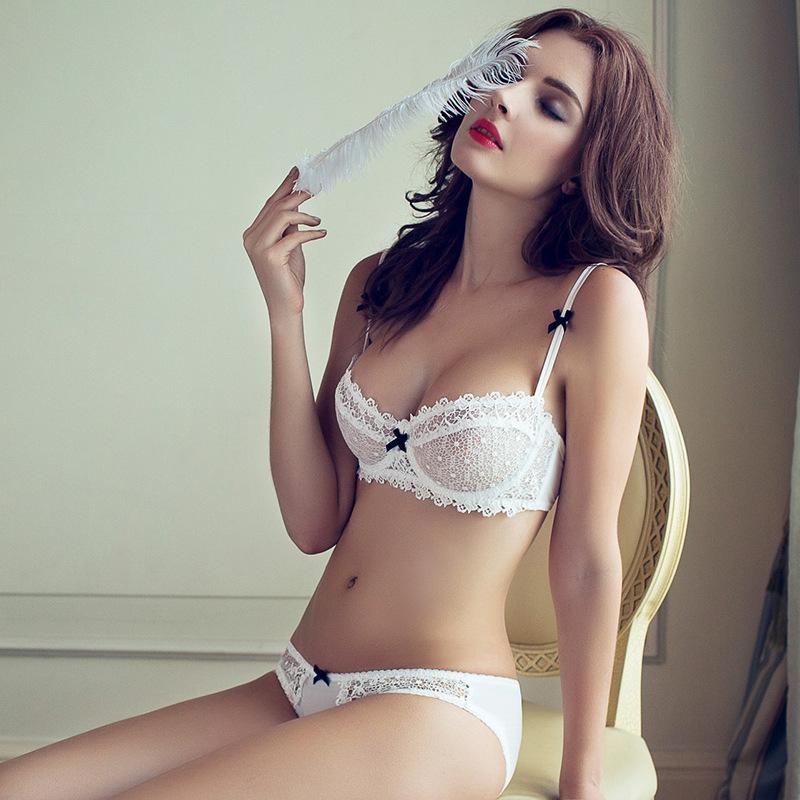 Hot Sale Fashion Sexy Bra Set lingerie victoria women's slim lace sexy underwear pack cheeky panty bra Clothing set(China (Mainland))