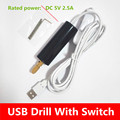 dremel Wholesale High quality electrical drill DIY USB tools mini drill DC 5V 2A 12V 2A free shipping