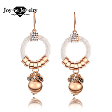 Joyme neonatal exaggerated fashion statement earrings braided leather cord top quality women earrings(China (Mainland))