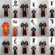 Nueva llegada del Anime caliente Jerseys Karasuno secundaria Club voleibol Cosplay Sportswear haikyuu! Jerseys 9 caracteres uniforme(China (Mainland))