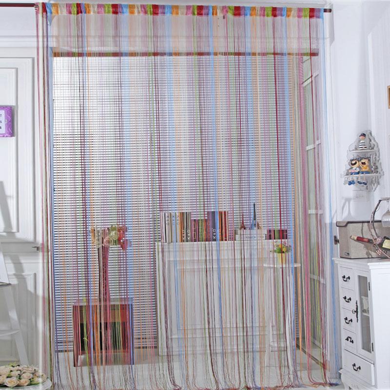 Rideau en corde avec multicolore promotion achetez des for Rideaux pour porte fenetre