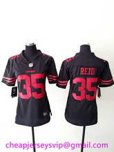 Stitched Women San Francisco 49ers Steve Young Jerry Rice Eric Reid Anquan Boldin Ronnie Lott Smith Blake Bell For Ladies Girls(China (Mainland))