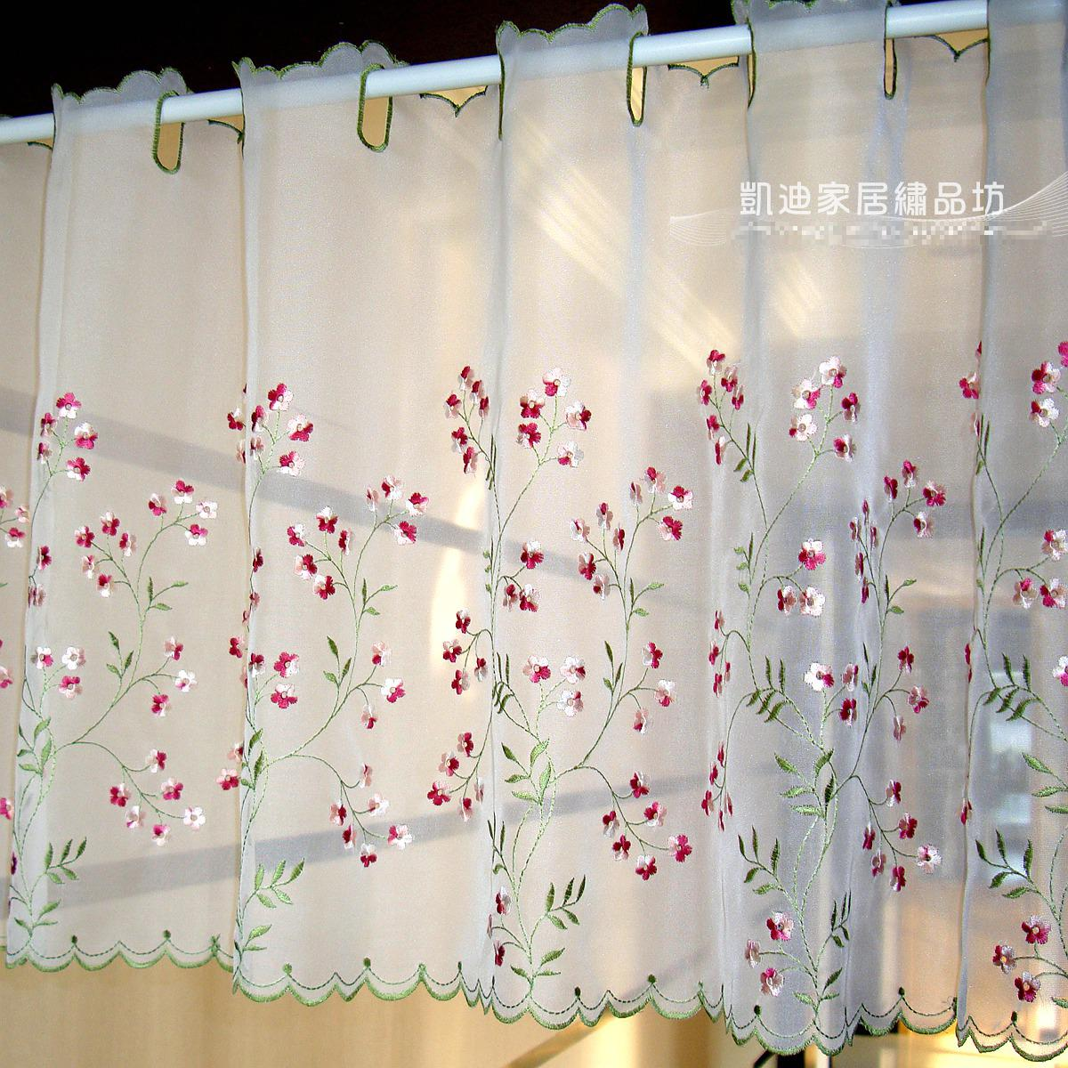 New Arrival Embroidery Gauze Pipe Curtains High Grade ...