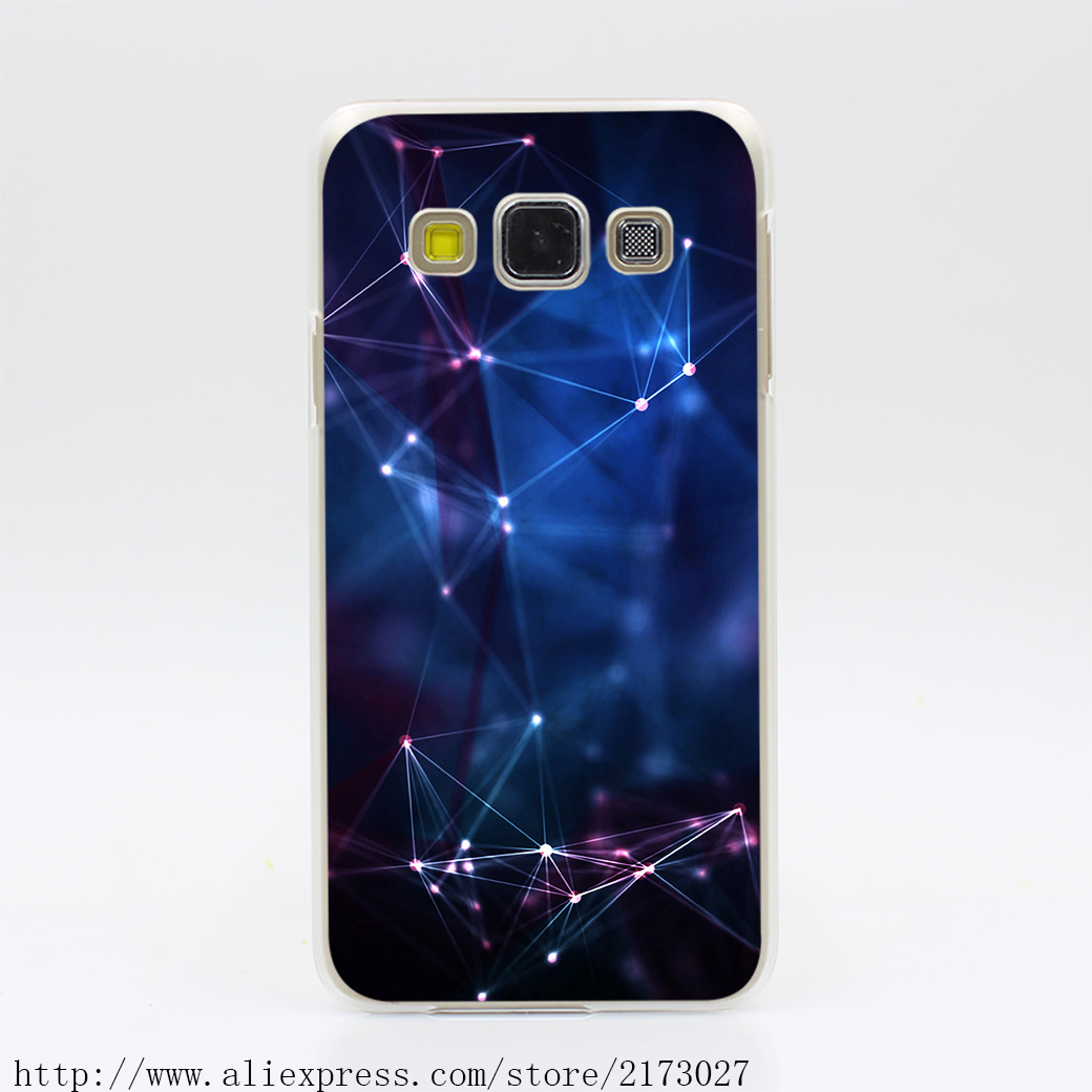 1298Y Laser Lights Connections Hard Case Transparent Cover for Galaxy A3 A5 A7 A8 J5 J7 Note 2 3 4 5 Grand 2 & Prime(China (Mainland))