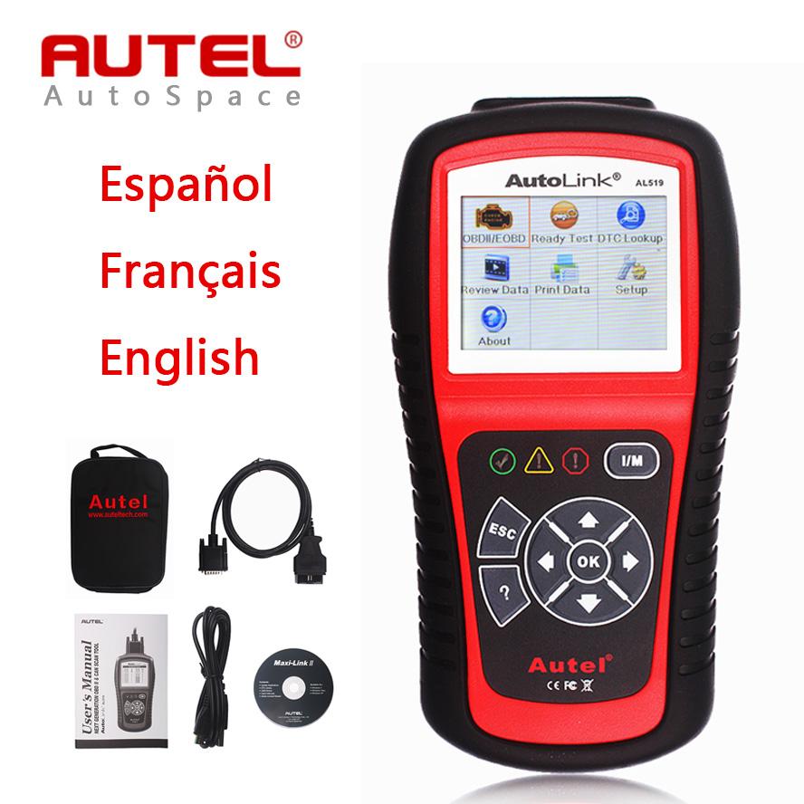 Original Autel Autolink AL519 Scanner OBD2 Code Reader DTC Clear Auto Diagnostic Scan Tool AL-519 Online Update AL 519 OBD 2 II(China (Mainland))