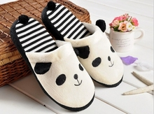New hot models cartoon panda slippers winter cotton slippers home slippers shoes super cute Winnie indoor winter silppers(China (Mainland))
