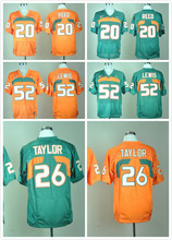 Stitched 2016 New Arrivals Miami Hurricanes Ed Reed 20 Ray Lewis 52 Sean Taylor 26 , 100% Stitched Logo, High Quality()