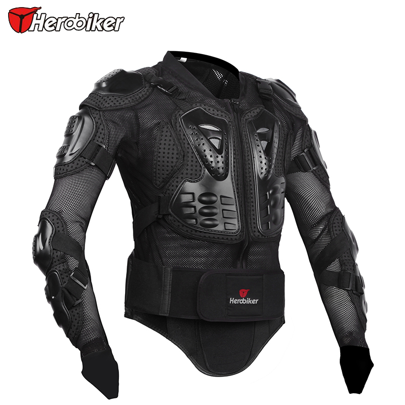 Herobiker New Professional Motorcycle Body Prtection Motorcross Racing Full Body Armor Spine Chest Protective Jacket Gear(China (Mainland))