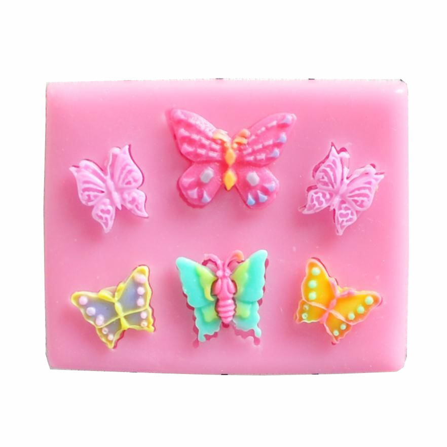 Free shipping butterfly die fondant chocolate cake mold cake decoration silicone mold cooking tools are at west point FT-148(China (Mainland))