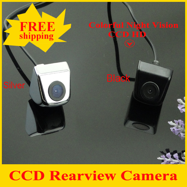 CCD Newest Car Rear View Camera Parking Camera with 100% Waterproof Wide Angle Luxury HD CCD Car Rear Camera Free Shipping(China (Mainland))