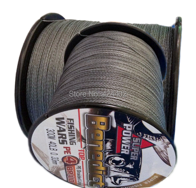 New 300M 6-80LB Super Strong 4Stand Sea Braided PE Fishing Line Spectra grey(gray)(China (Mainland))