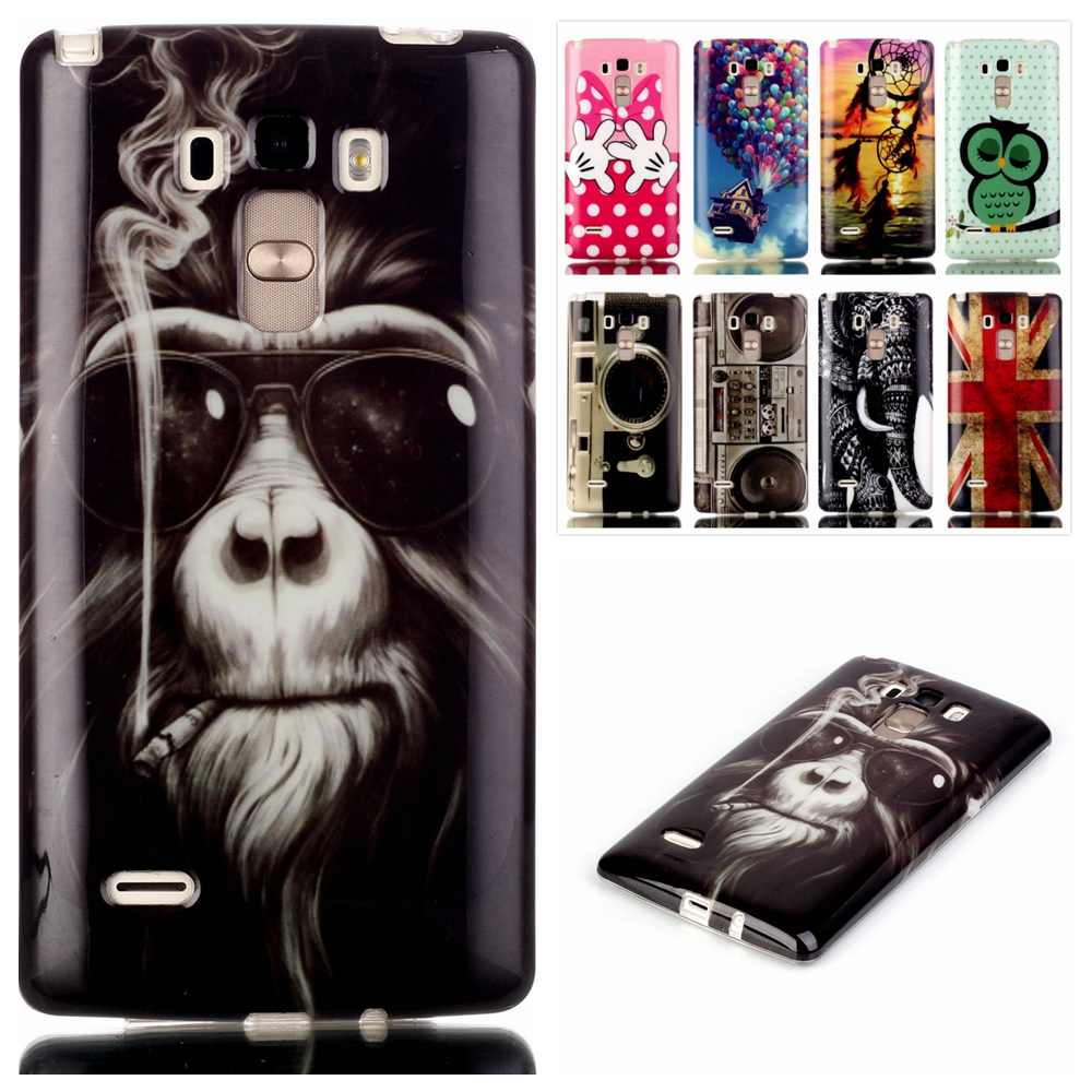Cartoon Soft TPU Silicone Case For LG G4 Stylus S770 Cover Ultra Slim Elephant Monkey Coque For LG G4 Stylus S770 Phone Cases(China (Mainland))