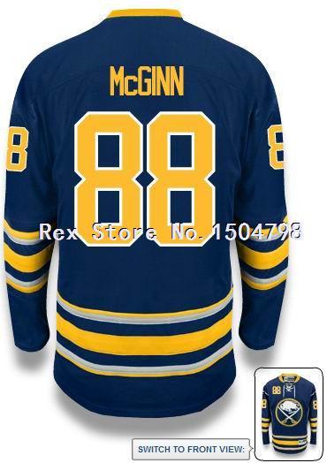 CHEAP Jamie McGinn Jersey Men's Buffalo Sabres #88 Ice Hockey Jersey HOME BLUE,Authentic 88 Jamie McGinn Sport Jersey,Size 46-56