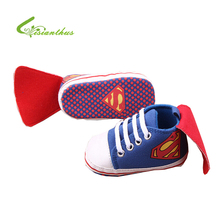 New Superman Baby Shoes 2017 New Fashion Batman Cartoon Toddler Infants Shoes 11cm 12cm 13cm Baby Boys Shoes First Walkers(China (Mainland))