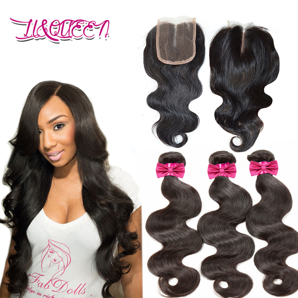 6A Virgin Peruvian hair With Lace Closure Peruvian virgin hair body wave Human hair with Closure Peruvian Body Wave Lace Closure(China (Mainland))