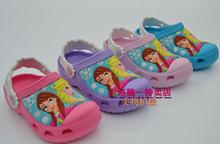 3D chaussures modèle de jardin bande dessinée chaussures Elsa LePei princesse dopr sandales filles sandales expédition(China (Mainland))