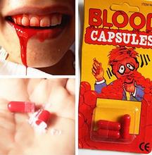Бесплатная доставка забавный крови таблетки прихоти опора рвота кровью капсула день смеха шутки игрушки
