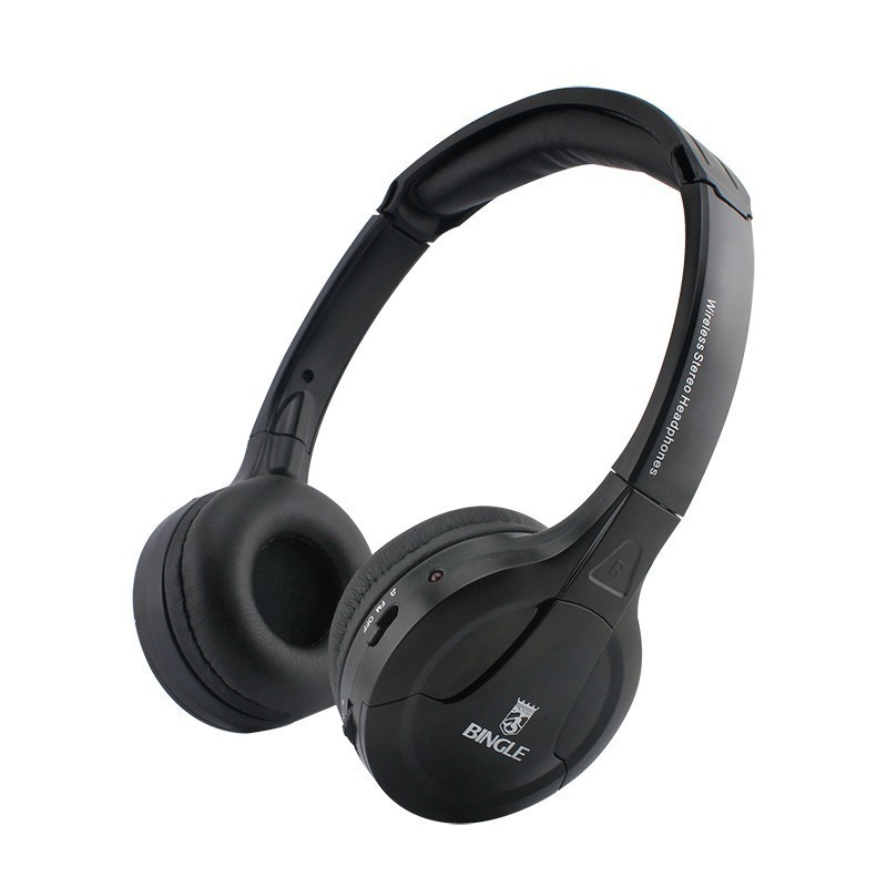 Bingle B610W 30 Meter Super Long Wireless Transmission Multifunction Wireless Headset Headphone with FM Radio for PC TV Audio
