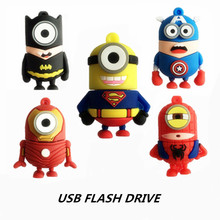 usb flash drive pen drive Minions 64GB 32GB 16GB 8GB 4GB The Avengers pendrive USB 2.0 cute cartoon Despicable Me memory U Disk(China (Mainland))