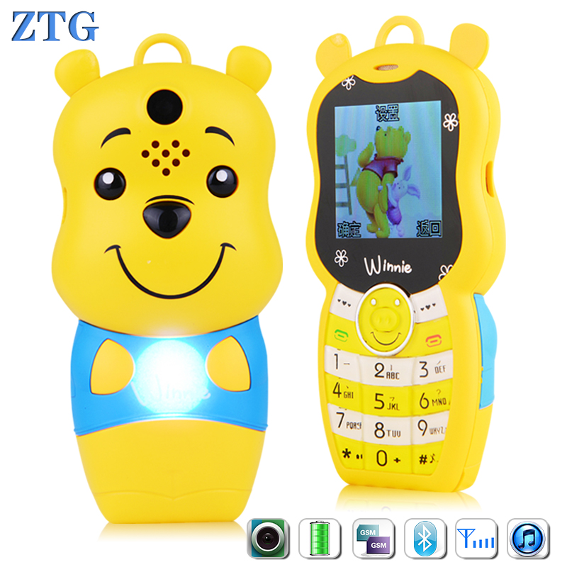 ZTG Mini Mobile Phone for girl boy kid baby gift students Children phone pocket card cell phone personality Electronic toy bears(China (Mainland))