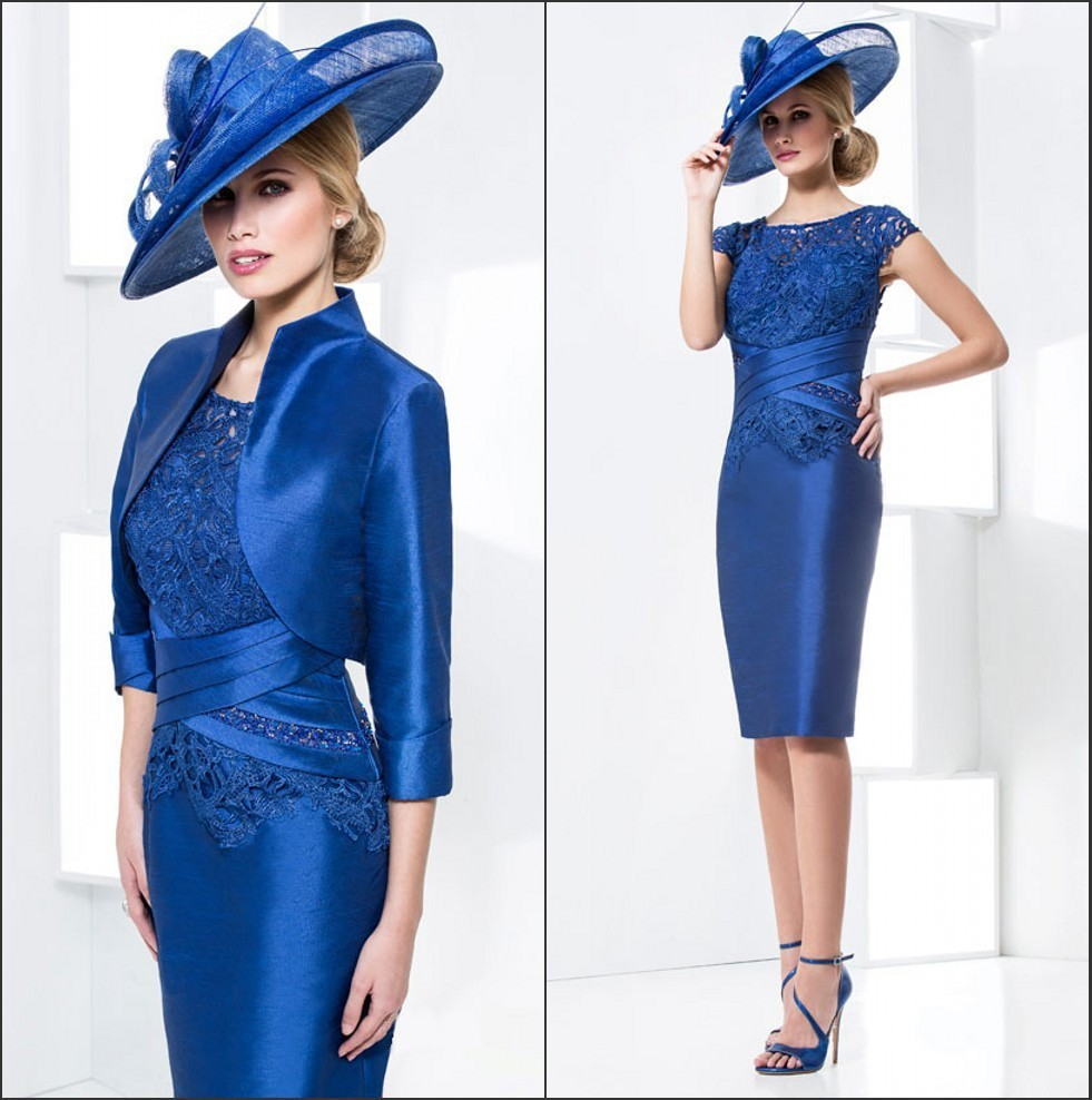 2016 New Elegant Mother of the Bride Wedding Pant Suit Knee-Length Plus Size Mother of The Bride Dresses With Jacket dresses(China (Mainland))