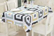 PVC waterproof and oil disposable table cloth rural grid antependium protection oil table mat tea table cloth