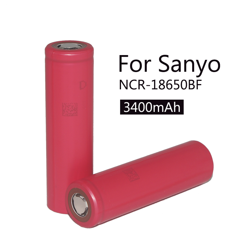 2 pcs / original batch Sanyo 18650 3.7 V 3400 MAH Sanyo batteries for rechargeable battery battery delivery services.(China (Mainland))
