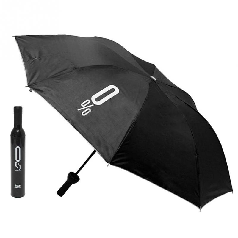 Compact Automatic Fashion Wine Bottle Folding Anti-UV Parasol Sun Rain Umbrella(China (Mainland))